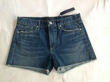 NWT Juicy Couture New Genuine Ladies Size Small UK 10  Blue Cotton Denim Shorts