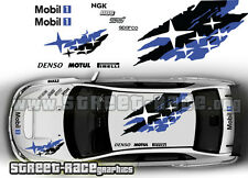SUBARU Impreza Rally Touring Car 025 Roof & COFANO DECALCOMANIE ADESIVI GRAFICA