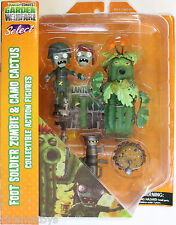 Plants vs. Zombies Foot Soldier & Camo Cactus Action Figure 2Pack Piante e Zombi