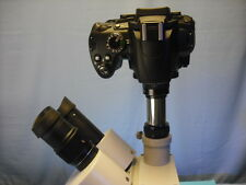 Nikon Camera to microscope adapter w/ knurled  lens 4 All DSLR with F mount