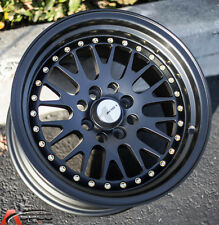 15X8 AVID.1 WHEEL AV-12 4X100 +25 BLACK FIT BMW 325 E21 E30 2002 VW CORRADO CRX