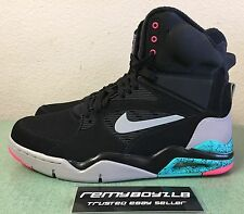 Nike Air Command Force Spurs Black Grey Hyper Pink Jade Men's Sz 13 Retro NEW!!!