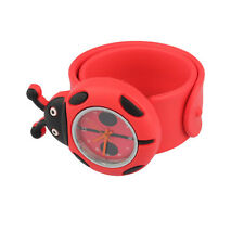 Digital Slap Watch Cute Coccinella Septempunctata Slap Watches for Kids Red