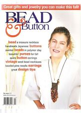 BEAD & BUTTON OCTOBER 1995 11TH ISSUE - AMULET PURSE - BEADED BUTTON EARRINGS