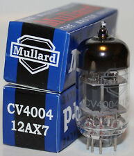 Matched Pair Mullard CV4004 / 12AX7 / ECC83 pre-amp tubes,Reissue, NEW
