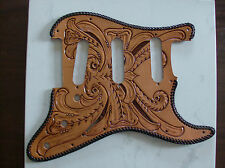 Tooled leather Pickguard for Fender Stratocaster/Strat Guitar