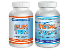 Maximum Diet Rapid Weight loss pills Month Fat Burn Slim Trim and Total Cleanse