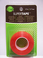 "Thermoweb Super Tape 1/2"" x 6 yd Acid Free Strong Clear Dbl Sided Photo Safe"
