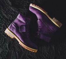 NEW Timberland 6 Inch Premium Purple Diamond Boots SZ 9 Villa Emerald Ltd Mono