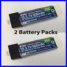 E-FLITE EFLITE 500MAH 1S 3.7V 25C LIPO BATTERY UMX GLIMPSE EFLB5001S25UM X2 !!
