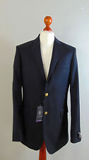 AUSTIN REED Mens Navy Admirals Sailors Single Breasted Suit Blazer Jacket NEW