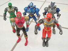"Power Rangers lot of 5 "" Mystic Force Wold Force Ninja Storm 2001-2005"