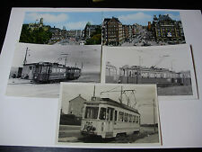 N038 - 8 x AMSTERDAM CITY TRAMWAYS Photos & Postcards - Netherlands HOLLAND TRAM
