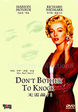 Don't Bother to Knock (1952) - Marilyn Monroe, Richard Widmark - DVD NEW