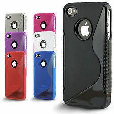 S-Line Silicone Bumper Case Cover for iPhone 4 4s