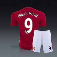 BNWT 16/17 ZLATAN IBRAHIMOVIC Manchester United Home Kit Soccer Jersey & Shorts