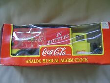 Coca-Cola Coke Analog Musical Alarm Clock Delivery Truck 1995 NRFB