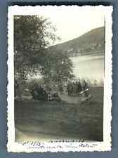 Suisse, Küssnacht, Accident de la Reine Astrid des Belges  Vintage silver print.