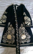 Womens embroidery coat trench jacket