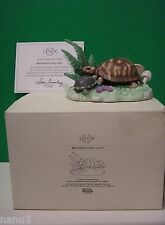 LENOX MOTHER'S DELIGHT TURTLE sculpture NEW in BOX with COA Woodland Animals