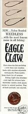 1965 Wright & McGill Co Eagle Claw Fishing Hook Print Ad