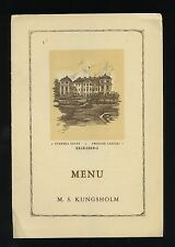 1935 MS Kungsholm First Class Lunch Menu - Swedish American Line