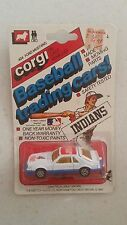 1982 Corgi Cleveland Indian #404 Baseball Trading Car Mustang Cobra On Card 1/64