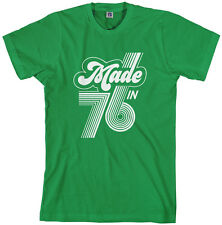Threadrock Men's Made in 1976 T-shirt 40th birthday gift 76