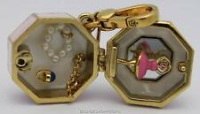 NWT Juicy Couture GOLD LTD ED PINK MUSIC JEWELRY BOX CHARM OPENS Ballerina GOLD