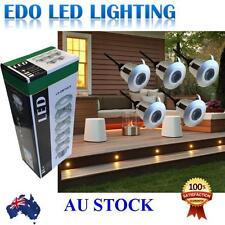 5 x 40mm LED Deck decking lights Warm White outdoor waterproof Plinth Kitchen