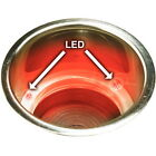 Recessed Mount Red LED Lighted Stainless Drink Holder - Fits 3-5/8 Inch Hole