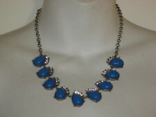 J.Crew Angelica Teardrop Bib Necklace NIP $59.50 Blue