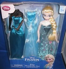 DISNEY FROZEN PRINCESS ELSA WARDROBE SET COLLECTOR DOLL & FASHIONS NRFB