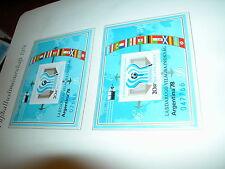 FUSSBALL  WM Weltmeisterschaft Argentinien 1978 : Block UNGARN a + b nummeriert