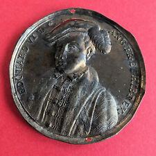 Edward VI 1547 - 1553 dassier 40mm Uniface presionado Medalla De Bronce