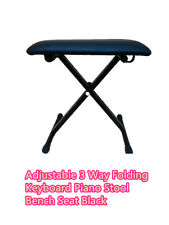 Brand new adjustable 3 Way Folding Keyboard Piano Stool Bench Seat | Black
