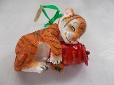 Danbury Mint Tiger Cub Ornament Baby Animal Collection Cookies For Santa