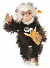 Steiff Najumo Monkey Brown Tipped Mohair Jointed 32cm Wild Animal 035128 New