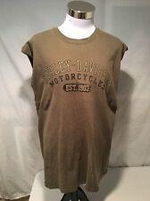 Harley Davidson Sleeveless Dealer Tee Green T-Shirt Mens Size XL New York City B