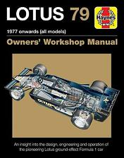 Lotus 79 (Mario Andretti Ronnie Peterson Ground-Effect Chapman) Buch book manual