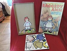 RAGGEDY ANN 1988 COLORFORMS DRESS UP DOLL SET W/ STICK ON OUTFITS & ORIGINAL BOX