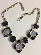 VINTAGE RARE EARLY 50'S RHINESTONE POURED GLASS CHRISTIAN DIOR FLOWER NECKLACE