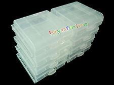 8x immagazzinaggio di plastica scatola di caso per AA AAA Nuovo