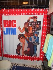 Retro BIG JIM Shower Curtain 70's Butch Action Figure Gay Bear