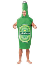 MENS RUDE STAG LUKINBETTA GREEN BEER BOTTLE COSTUME FANCY DRESS HALLOWEEN OUTFIT