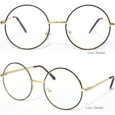 ROUND METAL FRAME Clear Lens Eyeglasses Retro Vintage Style Glasses Circle