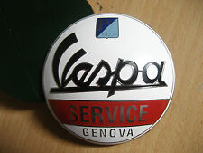 Vintage Badge Metal Decal Vespa Service Genova Size 7 cm to 7 cm