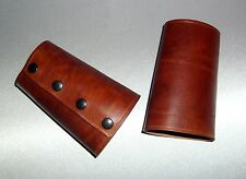Manschetten Ledermanschetten Armstulpen Stulpe Leder braun leather bracers brown