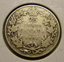 1906 Canada 25 Cent Coin