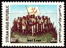 Syrien Syria 1966 ** Mi.945 Tag der Arbeit Labour Day Weltkugel Globe Flagge
